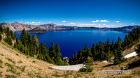 Crater Lake Panorama 2 Wallpaper