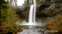 Silver Falls - South Falls, December 2015-Pano Wallpaper
