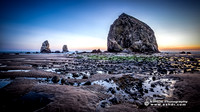 Haystack Rock Twilight Wallpaper