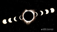 Solar Eclipse 2017 Composite Artistic Wallpaper